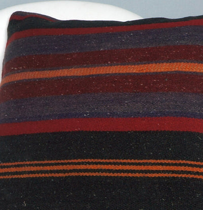 16x16 Hand Woven wool tribal ethnic striped Soft Colour Kilim Pillow cushion 2747 - kilimpillowstore  - 3