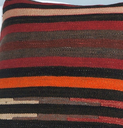 16x16 Hand Woven wool tribal ethnic striped Soft Colour Kilim Pillow cushion 2757 - kilimpillowstore  - 3