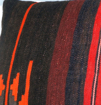 16x16 Hand Woven wool tribal ethnic striped Soft colour Kilim Pillow cushion 2778 - kilimpillowstore  - 3