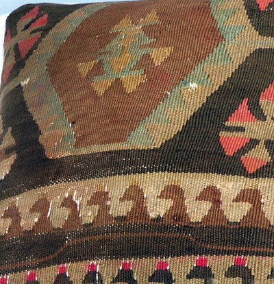 Geometric  kilim pillow sham, Tribal cushion cover, Handwoven pillowcase , mid century decor 2781 - kilimpillowstore  - 3