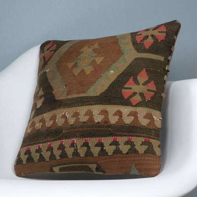 Geometric  kilim pillow sham, Tribal cushion cover, Handwoven pillowcase , mid century decor 2781 - kilimpillowstore  - 2
