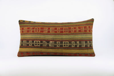 12x24 Ethnic decorative pillow cover , Bohemian pillow case, Modern home decor Geometric Multi colour handwoven pillow ,1648 - kilimpillowstore  - 1