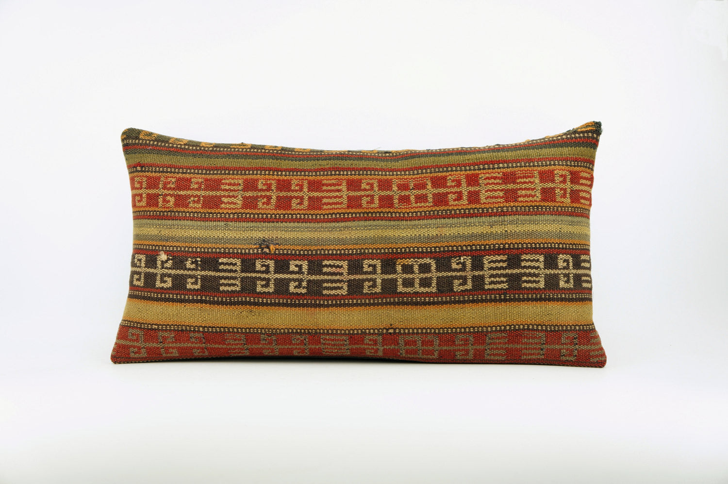 12x24 Ethnic decorative pillow cover , Bohemian pillow case, Modern home decor Geometric Multi colour handwoven pillow ,1649 - kilimpillowstore  - 1