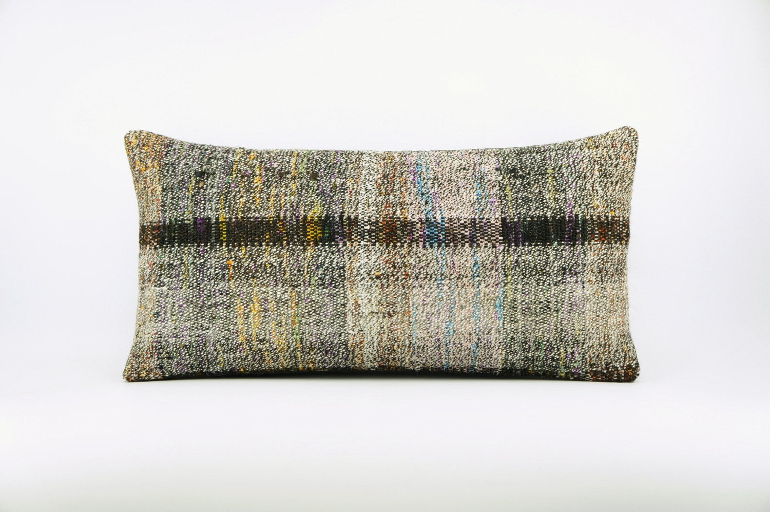 12x24  Hand Woven wool colourfull  multi colour striped decorative outdoor  Kilim Pillow cushion 1668 - kilimpillowstore  - 1