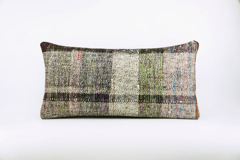 12x24  Hand Woven wool colourfull  multi colour striped decorative outdoor  Kilim Pillow cushion 1670 - kilimpillowstore  - 1