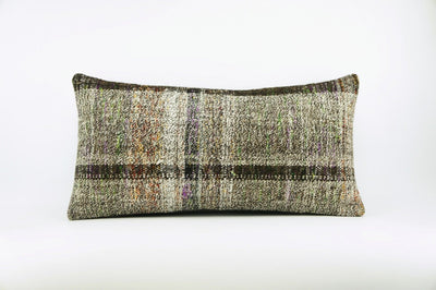 12x24  Hand Woven wool colourfull  multi colour striped decorative outdoor  Kilim Pillow cushion 1674 - kilimpillowstore  - 1