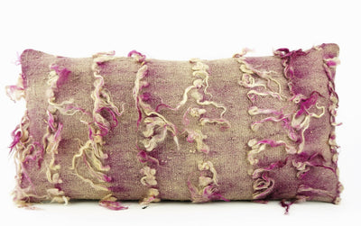 12x24 Purple Fuschia Kilim pillow case  throw cushion, ethnic decor, Mediterranean decor, 1692 - kilimpillowstore  - 2