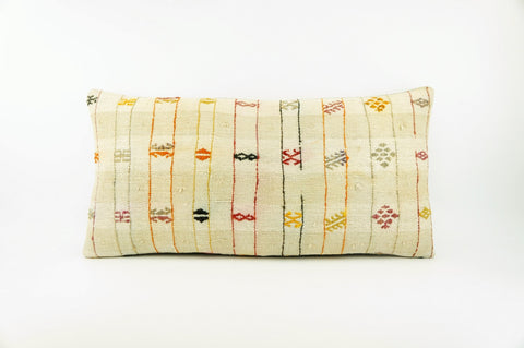 12x24 Ethnic decorative pillow cover , Striped ,Bohemian pillow case, Modern home decor Geometric Multi colour handwoven pillow ,1699 - kilimpillowstore  - 1