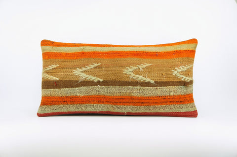 12x24 Ethnic decorative pillow cover , Bohemian pillow case, Modern home decor Geometric Multi colour handwoven pillow ,1644 - kilimpillowstore  - 1