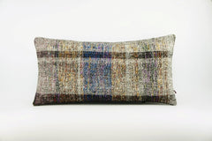 12x24  Hand Woven wool colourfull  multi colour striped decorative outdoor  Kilim Pillow cushion 1663 - kilimpillowstore  - 1