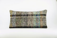 12x24  Hand Woven wool colourfull  multi colour striped decorative outdoor  Kilim Pillow cushion 1666 - kilimpillowstore  - 1