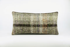 12x24  Hand Woven wool colourfull  multi colour striped decorative outdoor  Kilim Pillow cushion 1669 - kilimpillowstore  - 1