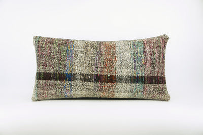 12x24  Hand Woven wool colourfull  multi colour striped decorative outdoor  Kilim Pillow cushion 1673 - kilimpillowstore  - 1