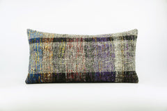 12x24  Hand Woven wool colourfull  multi colour striped decorative outdoor  Kilim Pillow cushion 1676 - kilimpillowstore  - 1