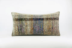 12x24  Hand Woven wool colourfull  multi colour striped decorative outdoor  Kilim Pillow cushion 1677 - kilimpillowstore  - 1