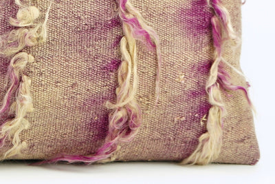 12x24 Purple Fuschia Kilim pillow case  throw cushion, ethnic decor, Mediterranean decor, 1691 - kilimpillowstore  - 4