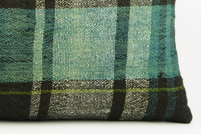 CLEARANCE 12x24 Green Black Striped Kilim pillow cover, bohemian kilim pillow, Throw pillow , 1737 - kilimpillowstore  - 4