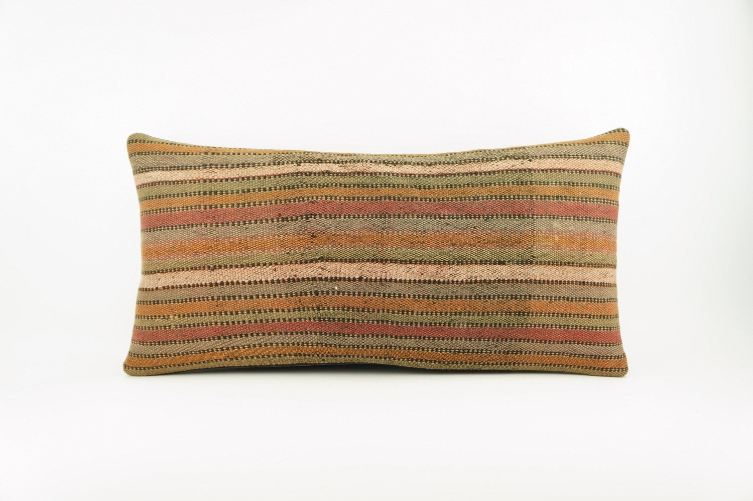 12x24 Ethnic decorative pillow cover , Bohemian pillow case, Modern home decor Striped Soft colors handwoven pillow ,1763 - kilimpillowstore  - 1