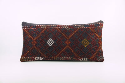 12x24 Ethnic decorative pillow cover ,blue red ,Bohemian pillow case, Modern home decor  geometric handwoven pillow ,1803 - kilimpillowstore  - 1