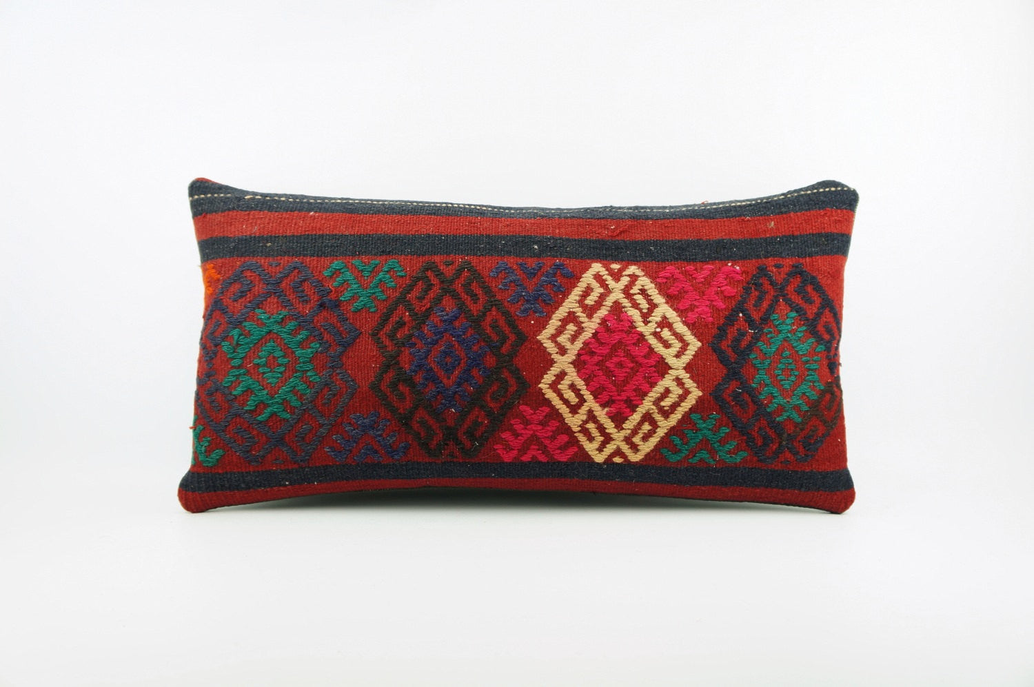 12x24  Ethnic decorative pillow cover, multi color, Bohemian pillow case, Modern home decor  geometric handwoven pillow ,1825