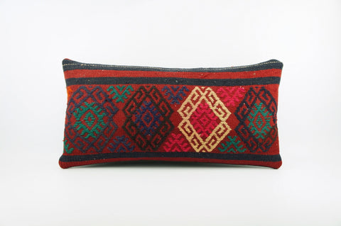 12x24  Ethnic decorative pillow cover, multi color, Bohemian pillow case, Modern home decor  geometric handwoven pillow ,1825 - kilimpillowstore