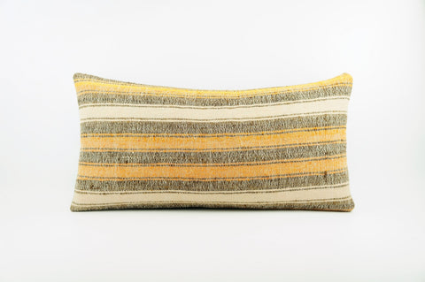 12x24 Ethnic decorative pillow cover , Bohemian pillow case, Modern home decor Striped Soft colors handwoven pillow ,1863 - kilimpillowstore  - 1