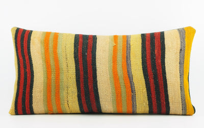 12x24 Ethnic decorative pillow cover , Bohemian pillow case, Modern home decor Striped Multi colour handwoven pillow ,1869 - kilimpillowstore  - 2