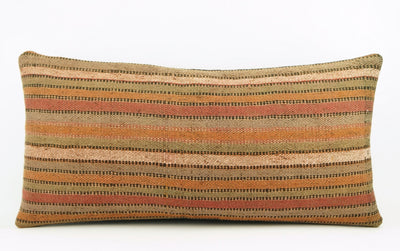 12x24 Ethnic decorative pillow cover , Bohemian pillow case, Modern home decor Striped Soft colors handwoven pillow ,1766 - kilimpillowstore  - 2