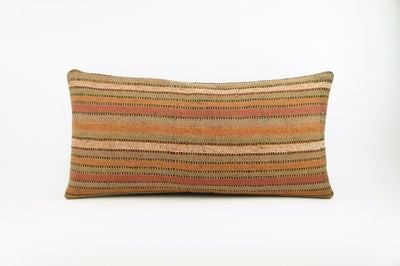 12x24 Ethnic decorative pillow cover , Bohemian pillow case, Modern home decor Striped Soft colors handwoven pillow ,1766 - kilimpillowstore  - 1