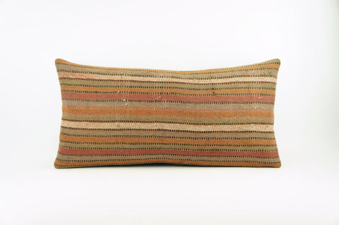 12x24 Ethnic decorative pillow cover , Bohemian pillow case, Modern home decor Striped Soft colors handwoven pillow ,1767 - kilimpillowstore  - 1