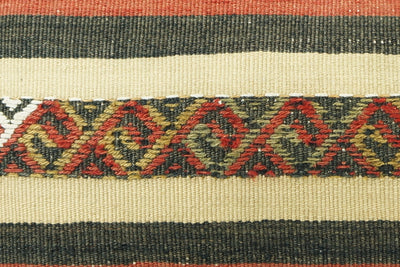CLEARANCE  12x24  Striped pillow cover , Decorative kilim pillow,  kilim pillow red black beige 1771 - kilimpillowstore  - 3