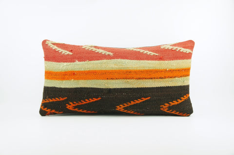 12x24  Ethnic decorative pillow cover, multi color, Bohemian pillow case, Modern home decor  geometric handwoven pillow ,1826 - kilimpillowstore  - 1