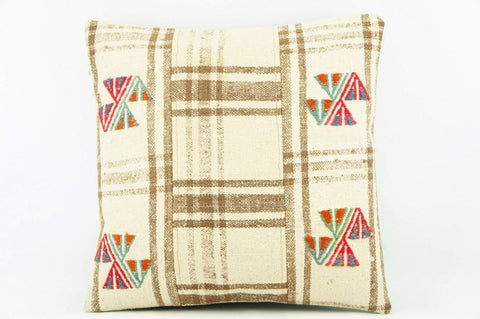 Kilim  pillow cover,  throw  pillow , ethnic decor,  Mid century style 2161 - kilimpillowstore  - 1
