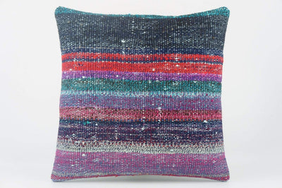 Multi colour handwoven pillow , Decorative Kilim pillow cover  1522_A - kilimpillowstore  - 1