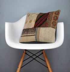 Patchwork Kilim  pillow case 16,  throw  cushion, ethnic decor,  Mediterranean  decor,  2436 - kilimpillowstore  - 1