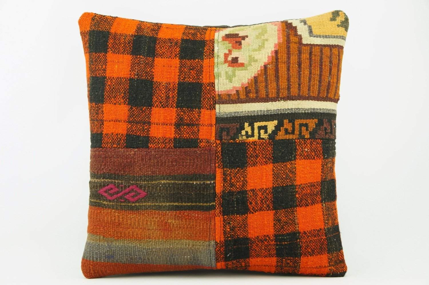Plaid Kilim pillow cover 2267