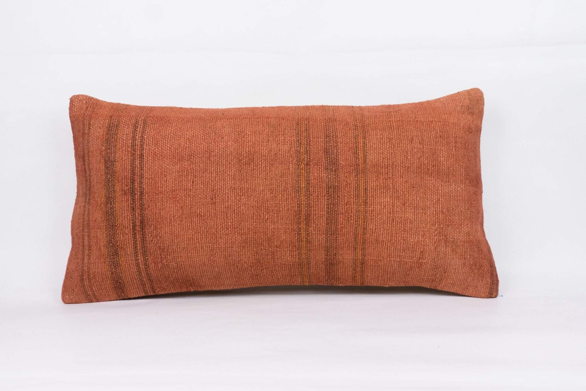 Plain Brown Kilim Pillow Cover 12x24 4166 - kilimpillowstore  - 1