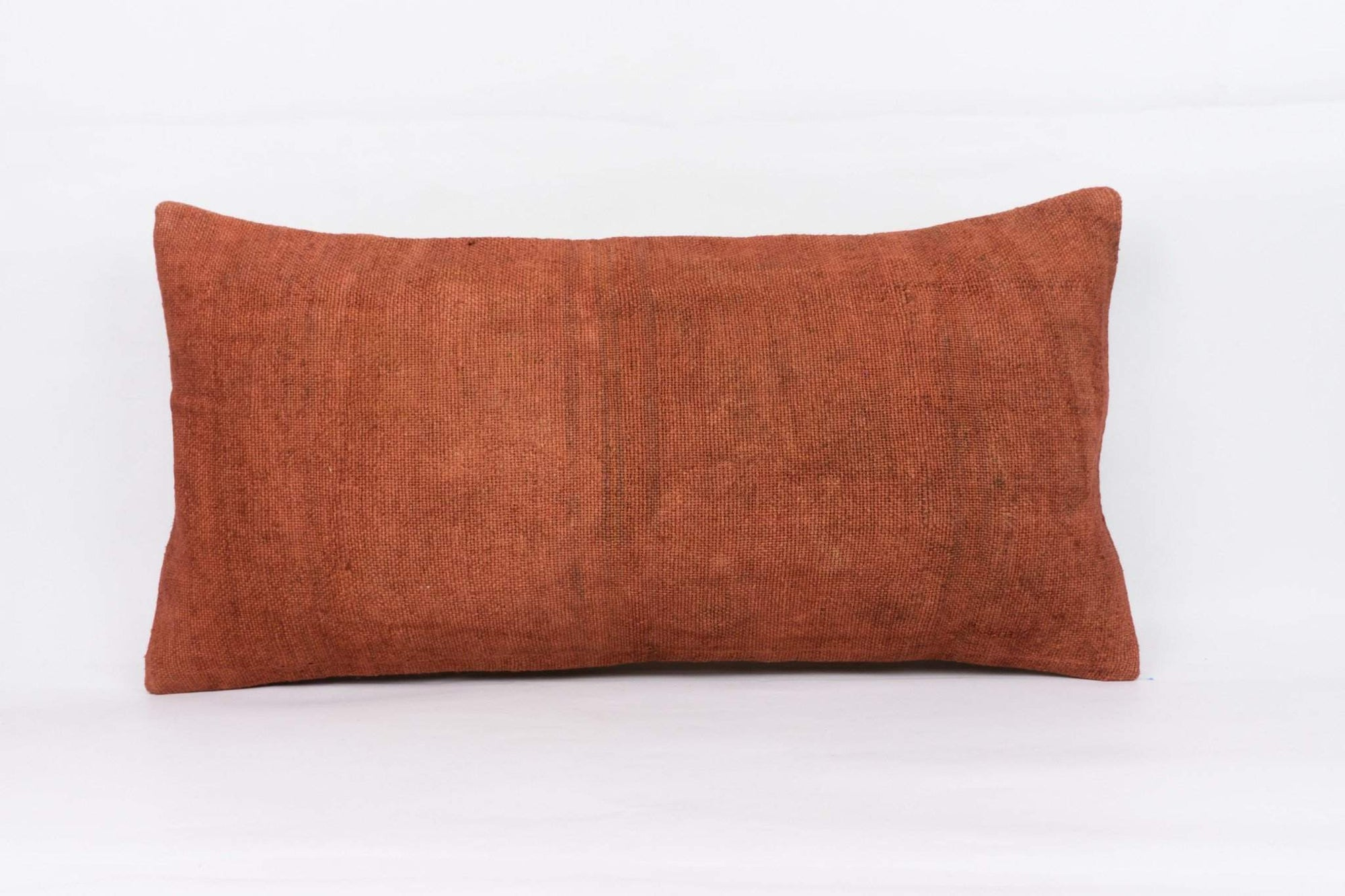 Plain Brown Kilim Pillow Cover 12x24 4172