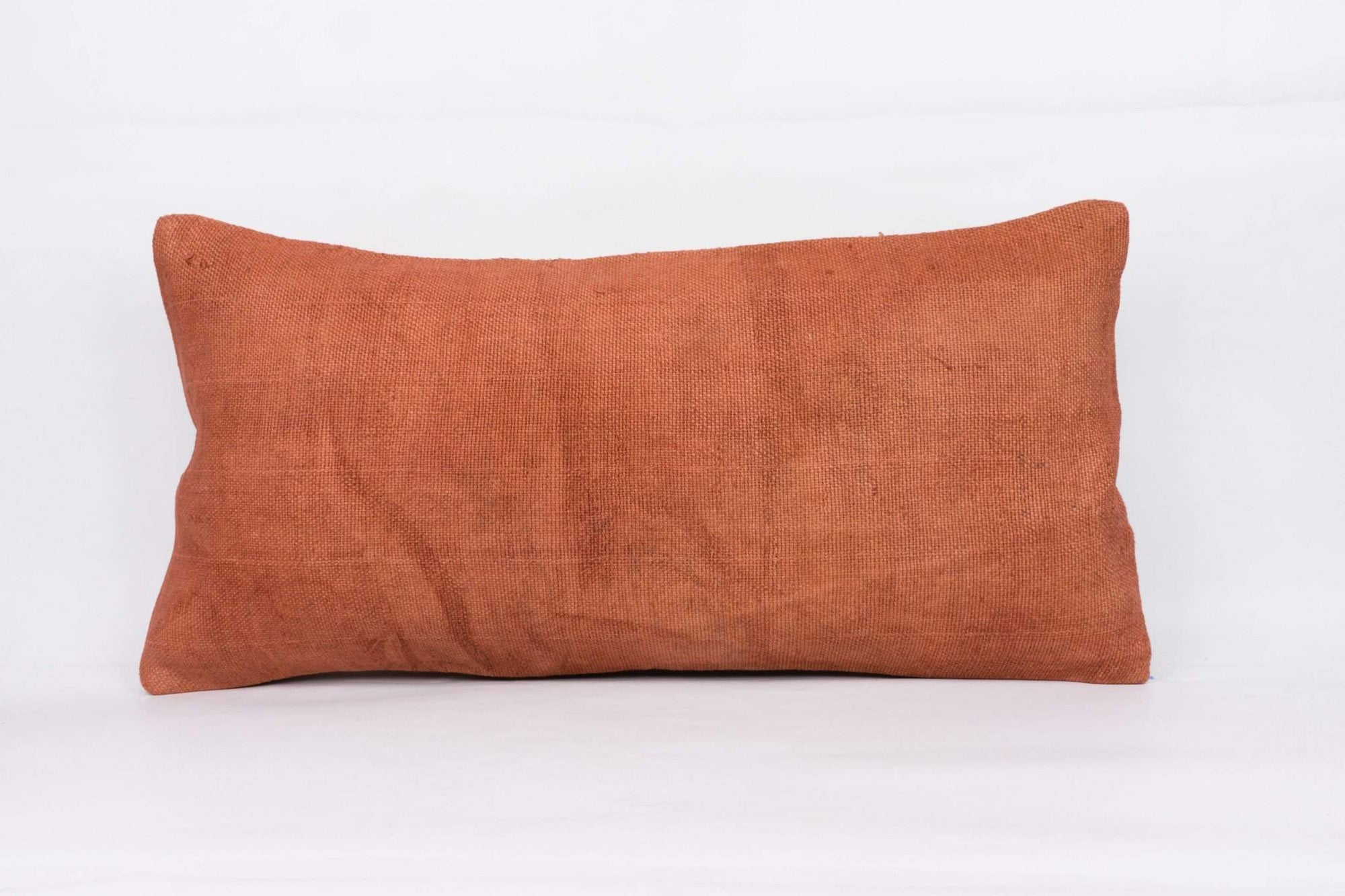 Plain Brown Kilim Pillow Cover 12x24 4174