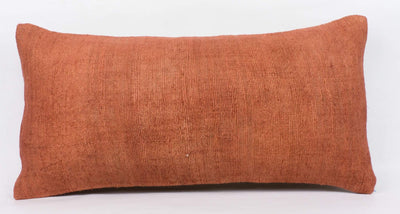 Plain Brown Kilim Pillow Cover 12x24 4179 - kilimpillowstore  - 2