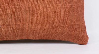 Plain Brown Kilim Pillow Cover 12x24 4179 - kilimpillowstore  - 3