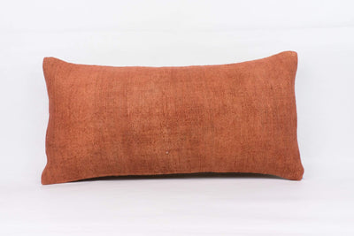 Plain Brown Kilim Pillow Cover 12x24 4179 - kilimpillowstore  - 1