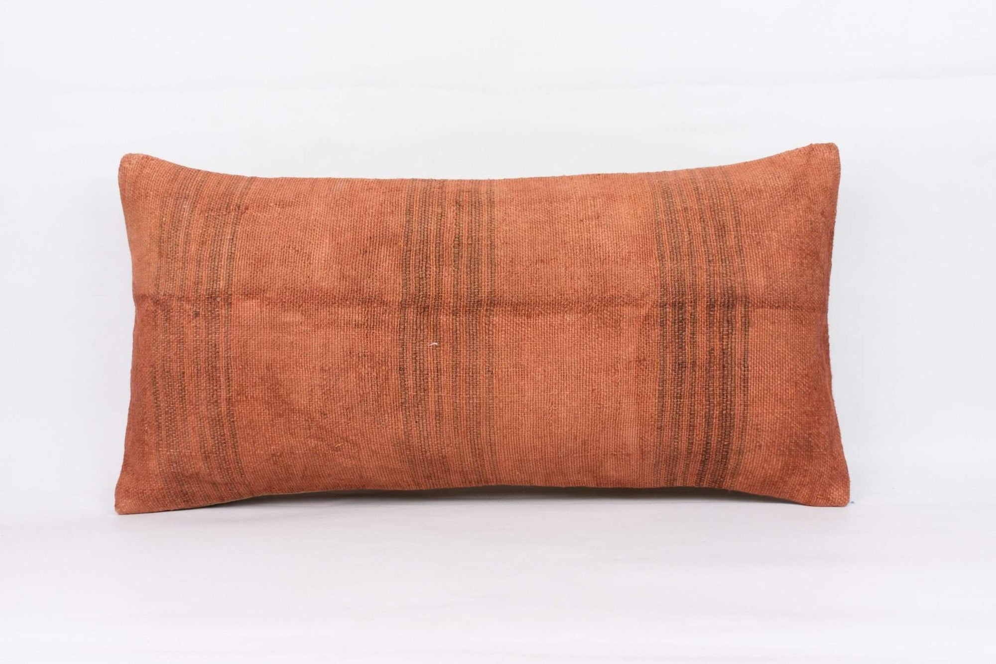 Plain Brown Kilim Pillow Cover 12x24 4180 - kilimpillowstore  - 1