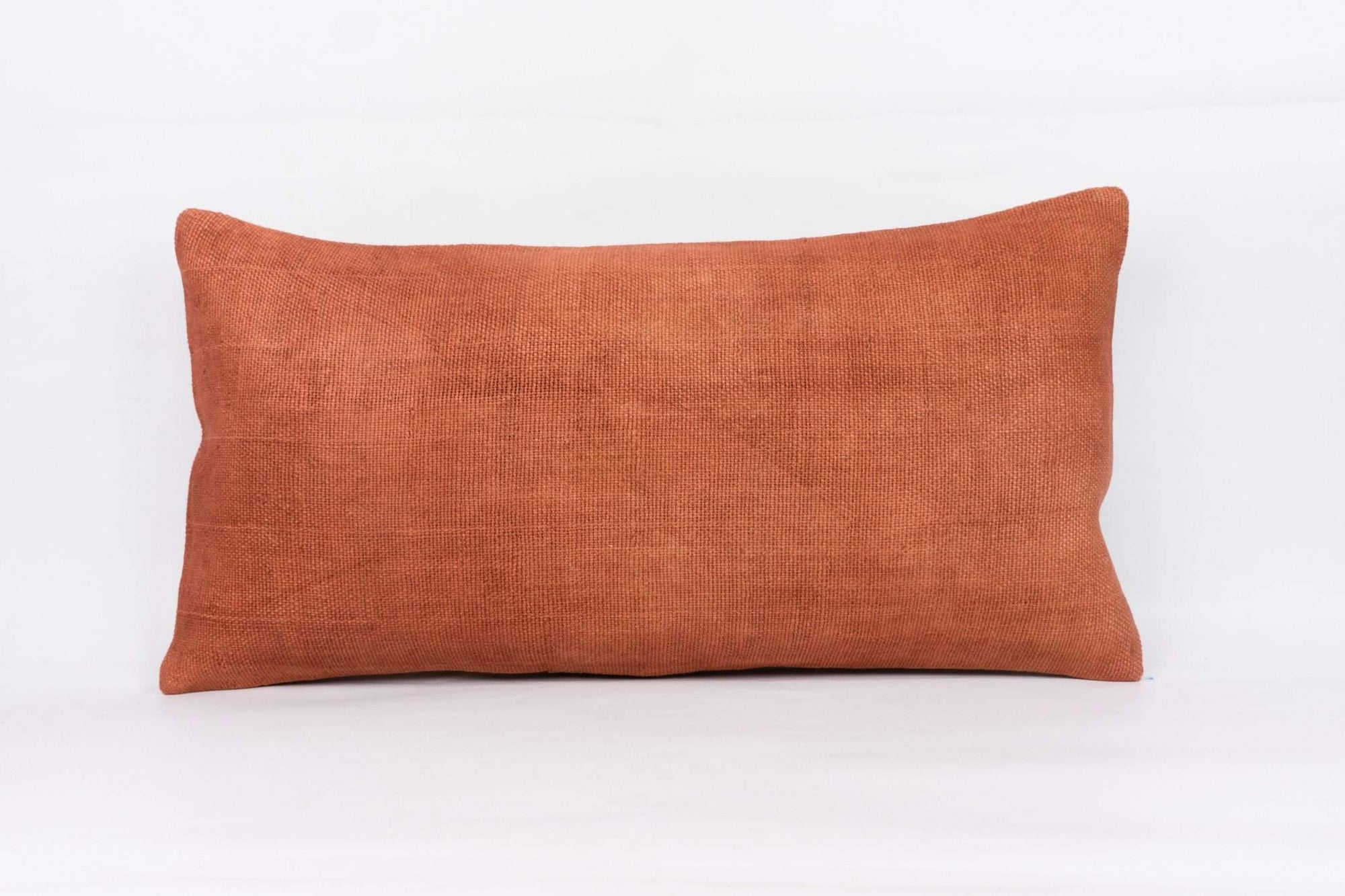 Plain Brown Kilim Pillow Cover 12x24 4181