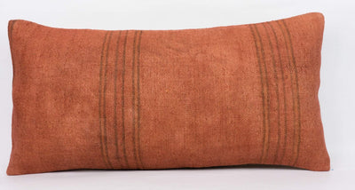 Plain Brown Kilim Pillow Cover 12x24 4183 - kilimpillowstore  - 2