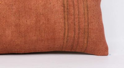 Plain Brown Kilim Pillow Cover 12x24 4183 - kilimpillowstore  - 3