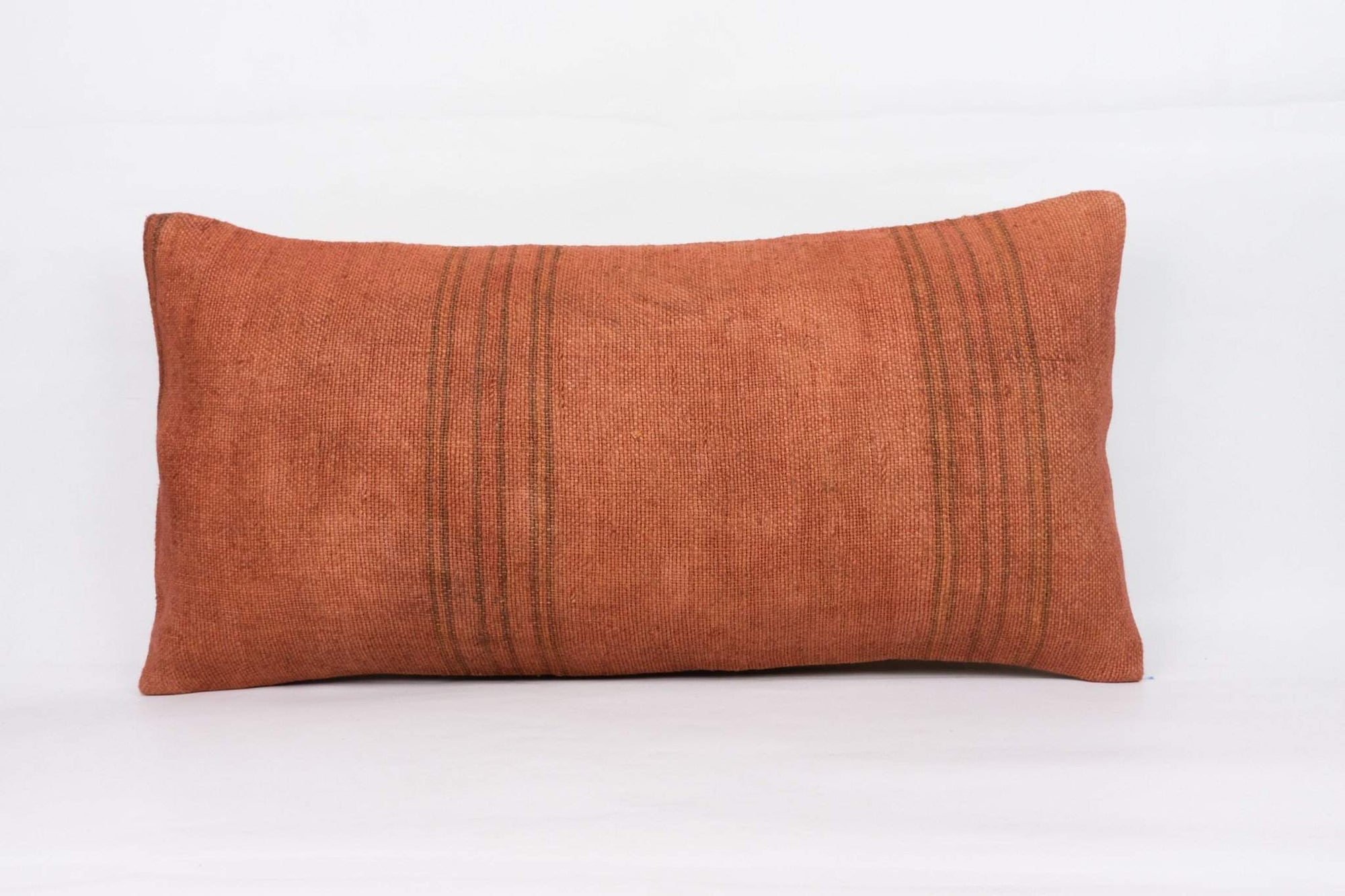 Plain Brown Kilim Pillow Cover 12x24 4183