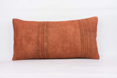 Plain Brown Kilim Pillow Cover 12x24 4183 - kilimpillowstore  - 1