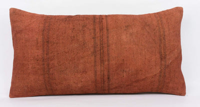 Plain Brown Kilim Pillow Cover 12x24 4184 - kilimpillowstore  - 2