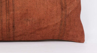 Plain Brown Kilim Pillow Cover 12x24 4184 - kilimpillowstore  - 3